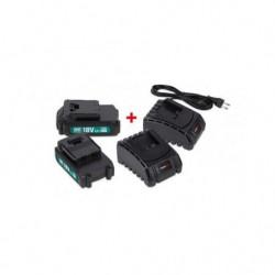 POWER PLUS  POWEB9090 2 x batterie 18v li 1.5ah