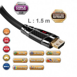 Câble HDMI Monster Black Platinium 1,5 m