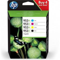 HP 953XL Pack de 4 Cartouches d'encre 3HZ52AE