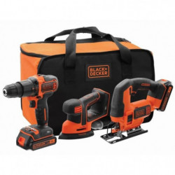 BLACK&DECKER Kit 18V BCK31S1S - Perceuse a percussion