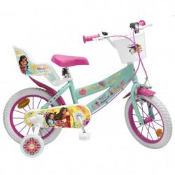 """Vélo 14"""" Elena d'Avalor - Fille - Rose / Vert d'Eau"""