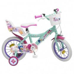 "Vélo 14"" Shimmer & Shine - Fille - Rose / Vert d'Eau"