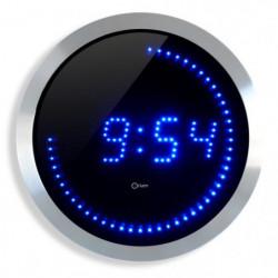 Horloge murale a LED  bleue -  Ø 30 cm