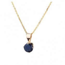 OR ECLAT Collier Or 375° Saphir