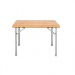 KING CAMP Table de camping aluminium avec revetement Bambou