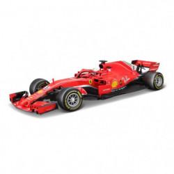 BBURAGO Voiture Ferrari Vettel 2018 Formule 1 1/18eme