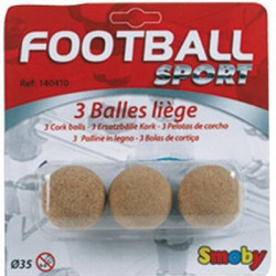 SMOBY 3 Balles de Baby Foot en Liege