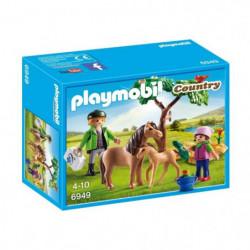 PLAYMOBIL 6949 - Country - Vétérinaire avec Enfant et Poneys