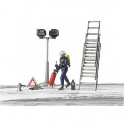 BRUDER - Set Pompier avec personnage et accessoires - 10,7 c