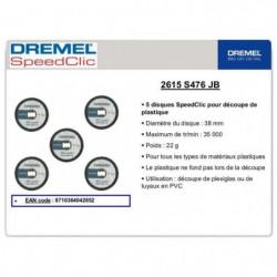 DREMEL 12 disques à plastiques EZ Speedclic 38mm