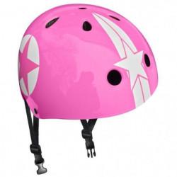 STAMP Casque Skate Pink Star avec Molette d'Ajustement - Tai