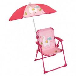 FUN HOUSE 713142 LOLA LAMA Chaise pliable avec parasol pour