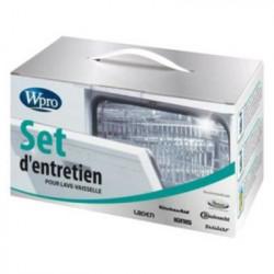WPRO KTR100 Set d'entretien lave-vaisselle contenant : 4 dét