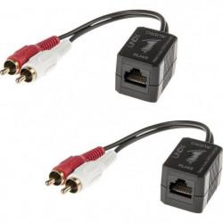 LINDY Kit extender audio stéréo- Cat.5-6 - 100m - 2x RCA