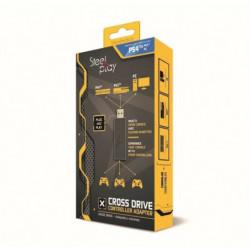 Adaptateur Cross Drive Steelplay pour manettes PS4,PS3,PC