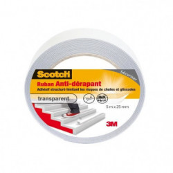 3M SCOTCH Ruban antidérapant - 5 m x 25 mm - Transparent