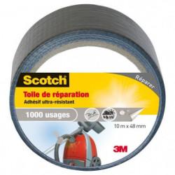 3M SCOTCH Toile adhésive de réparation - 10 m x 48 mm - Gris