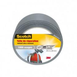 3M SCOTCH Toile adhésive de réparation - 25 m x 48 mm - Gris