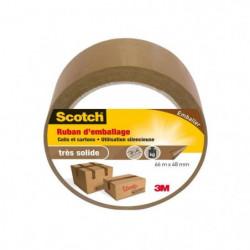 3M SCOTCH Ruban adhésif d'emballage - 66 m x 48 mm - Marron