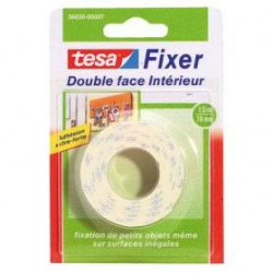 TESA Ruban adhésif Double face intérieur - 1,5m x 19mm