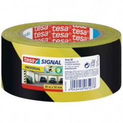 TESA Ruban adhésif de signalisation - Noir / Jaune (PP) - 66