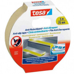 TESA Ruban adhésif antidérapant - 5m x 25mm - Fluorescent