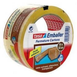 TESA Ruban adhésif d'emballage Rapide et Solide - 66m x 50mm