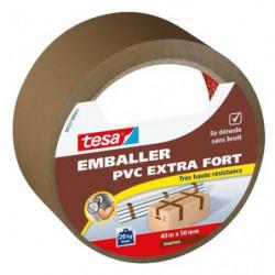 TESA Ruban  PVC extra fort - 40m x 50mm - Marron