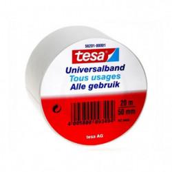 TESA Ruban PVC tous usages - 20m x 50mm - Blanc