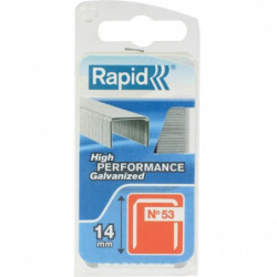 RAPID Agrafes galvanisées - Fil fin - N°53/14 mm
