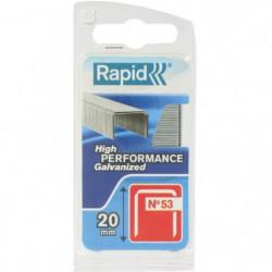 RAPID Agrafes galvanisées - Fil fin - N°53/20 mm