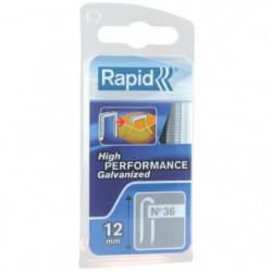 RAPID Agrafes galvanisées pour câbles - N°36/12 mm