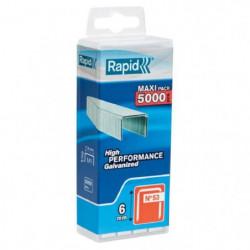 RAPID 5000 agrafes n°53 Rapid Agraf 6mm