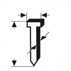 BOSCH Pointe pour agrafeuse type 49 - 2,8 x 1,65 x 14 mm