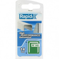 RAPID Agrafes galvanisées - Fil plat - N°140/14 mm