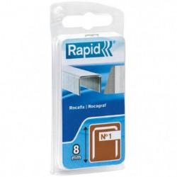 RAPID Agrafes galvanisées en fil plat - N°1/8 mm