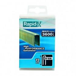 RAPID 3600 agrafes n°606 12mm galvanisées