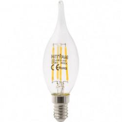 """Ampoules LED E14 flamme """"Coup de Vent"""" filament clair - 4 W"""