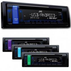 JVC Autoradio CD / USB / AUX - 4x50 Watts - Afficheur sur 2