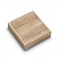 ALBERT DE THIERS Coffret en bois pour ménagere 48 pieces cér