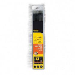 STANLEY 460727  Lot de 12 électrodes fonte - Ø 2,5 mm - L 25