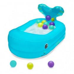 INFANTINO Baignoire Bébé Gonflable Baleine avec Balles de Je