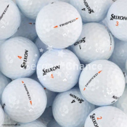 SECOND CHANCE Lot de 6 Balles de Golf Srixon Tri Speed - Bla