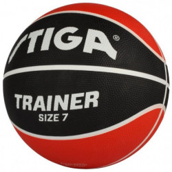 STIGA Ballon de basket-ball Trainer - Rouge et noir - Taille