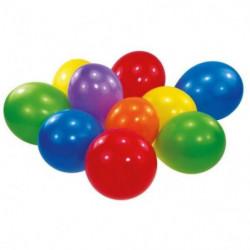 Lot de 100 Ballons latex Coloris assortis 22,8 cm / 9''