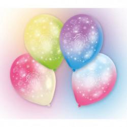 Lot de 4 Ballons avec LED - Latex - Feux d'artifice - 27,5 c