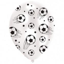 Lot de 6 Ballons - Latex - Ballons de foot - Imprimé tous cô