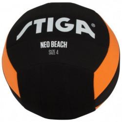 STIGA Ballon de football et volley Néo beach - Noir et orang