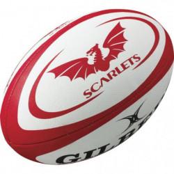 GILBERT Ballon de rugby REPLICA - Scarlets - Taille Midi