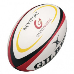 GILBERT Ballon de rugby REPLICA - Gwent Dragons - Taille Mid